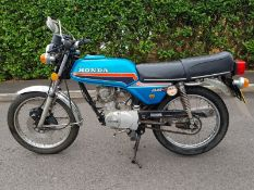 1981 Honda CB100 N Being sold without reserve Registration number YYD 121X Frame number Engine