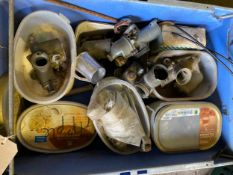 Assorted Velocette spares: Carburettors and parts