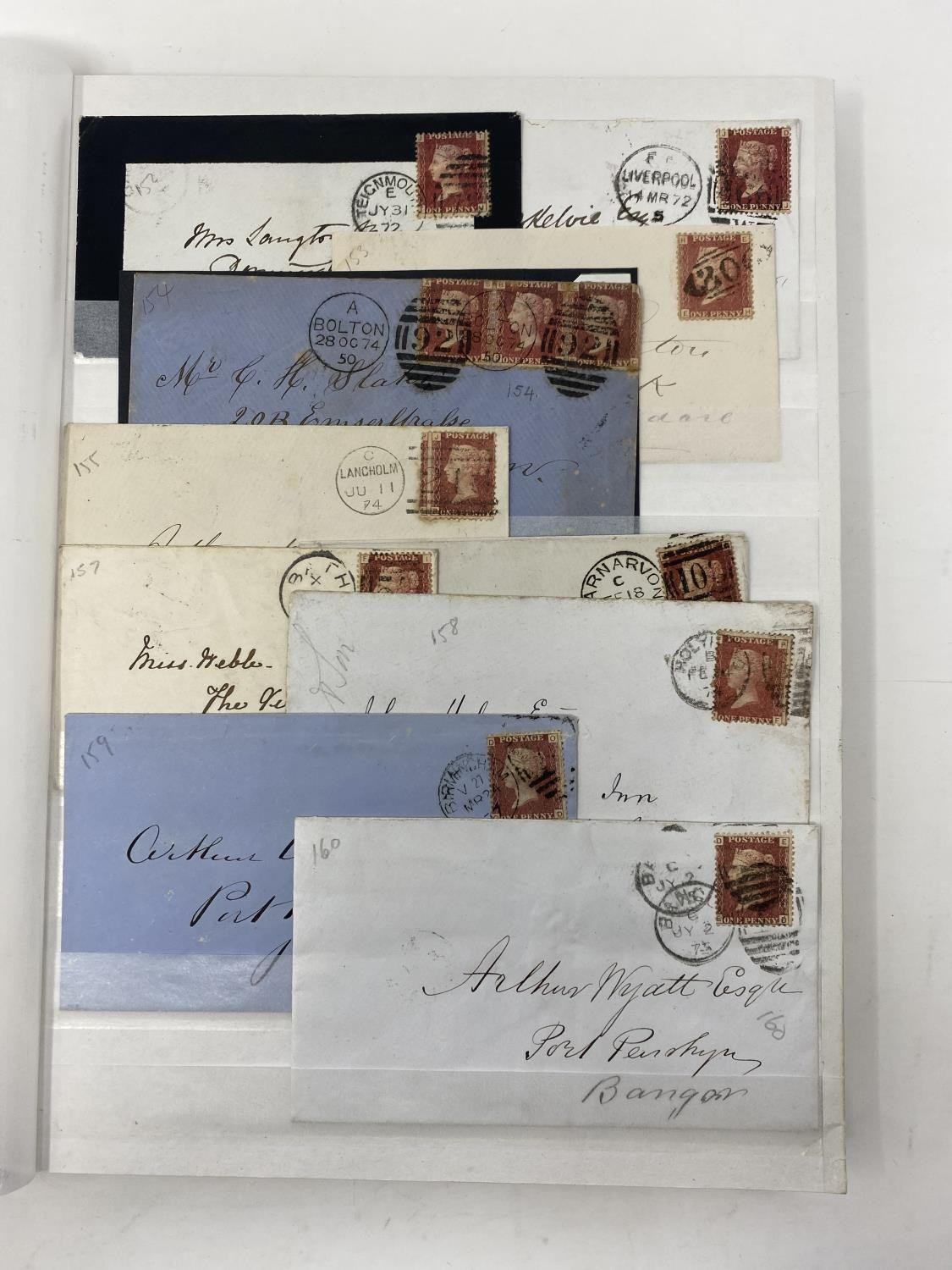Great Britain 1858-79 1d red Plate numbers issue, a fine complete collection of plates 71-224 (excl. - Image 3 of 3
