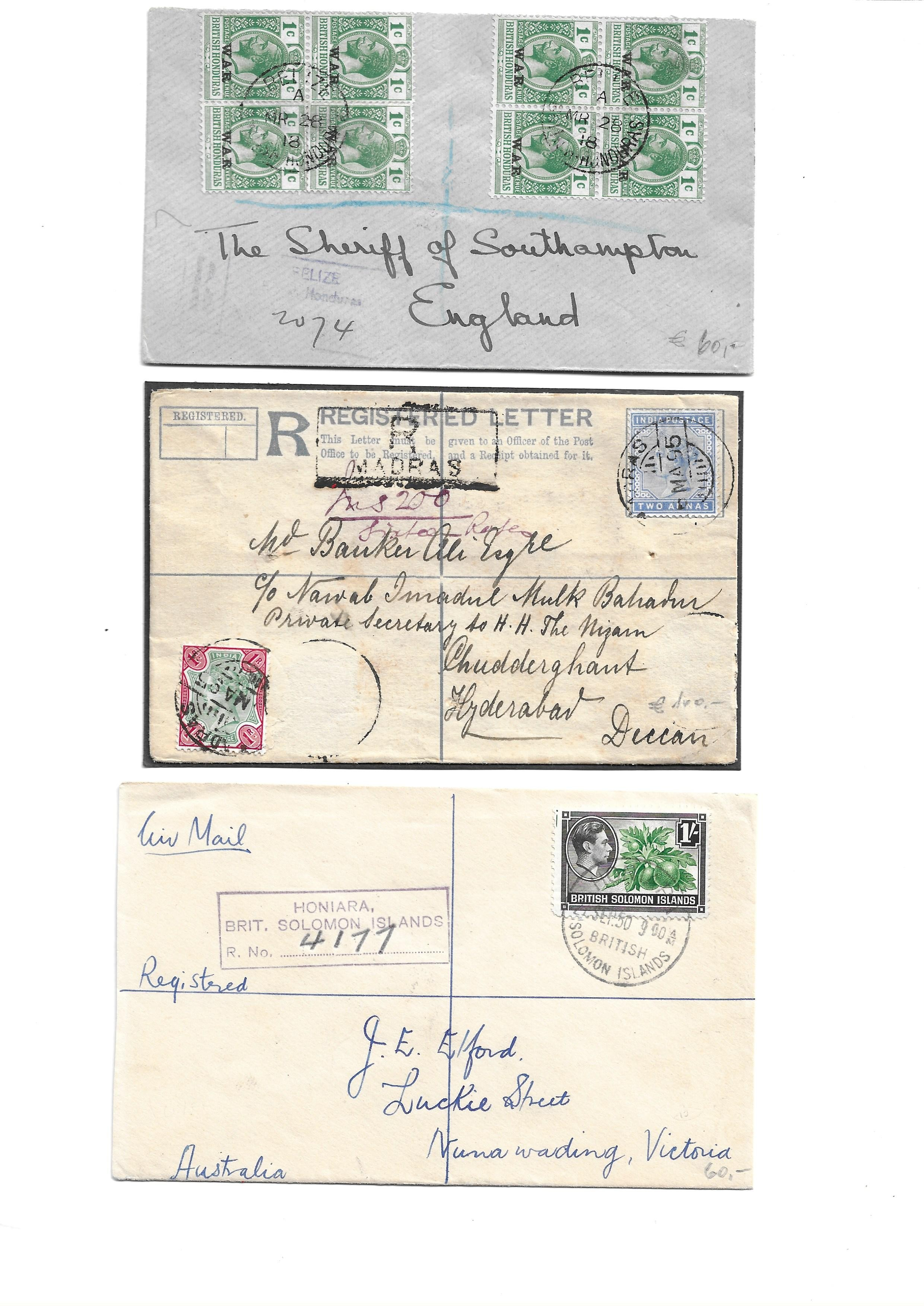 British Commonwealth Postal history selection of 12 attractive covers with Papua, Antiqua, Barbados, - Image 3 of 7