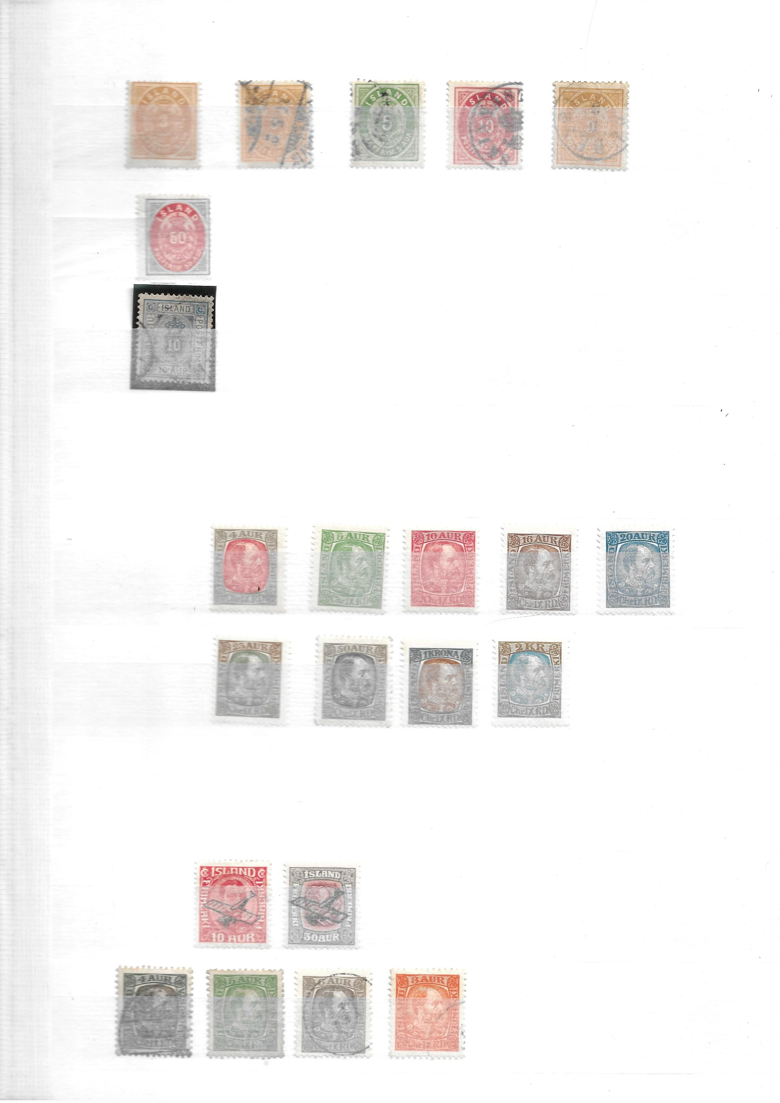 Iceland 1882-1940 unused and used collection on stockcards with sets and better values - Image 2 of 5