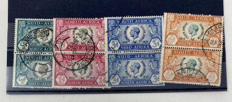 South Africa 1935 Jubilee set in fine used pairs, cat. £140