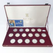 A Royal Mint, The Royal Marriage Silver Proof Coin Commemorative Collection, 1981, 16 coin set,