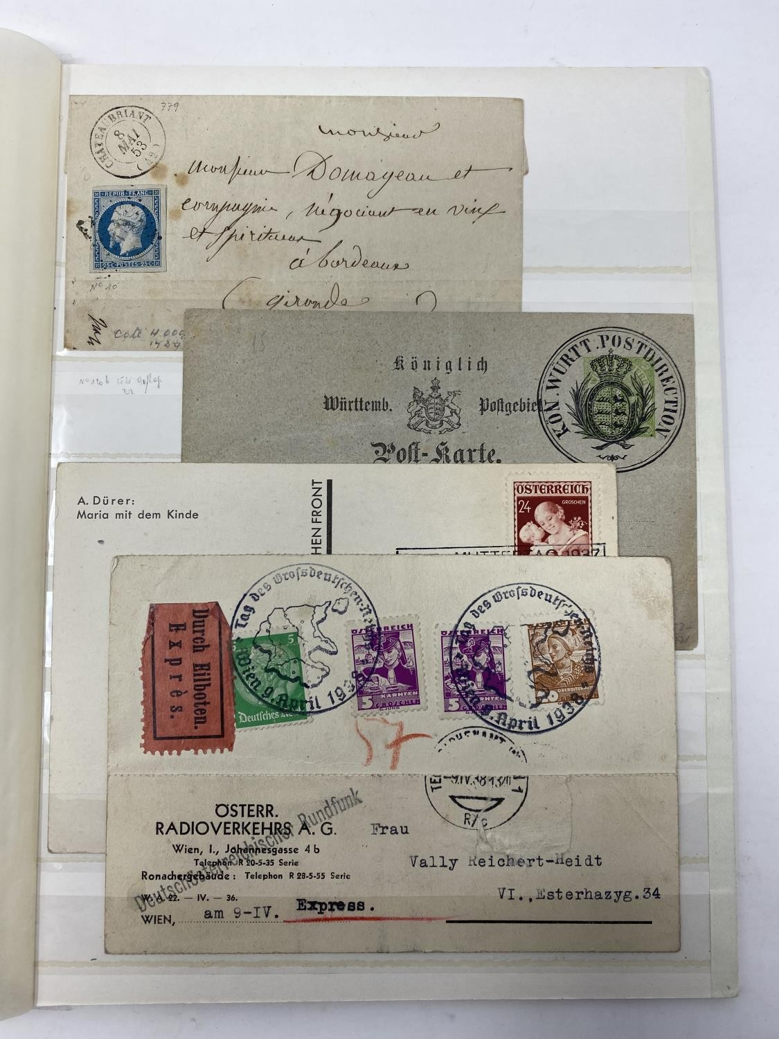 Europe Postal history selection of 35 early items with attractive frankings from Switzerland, - Image 3 of 3