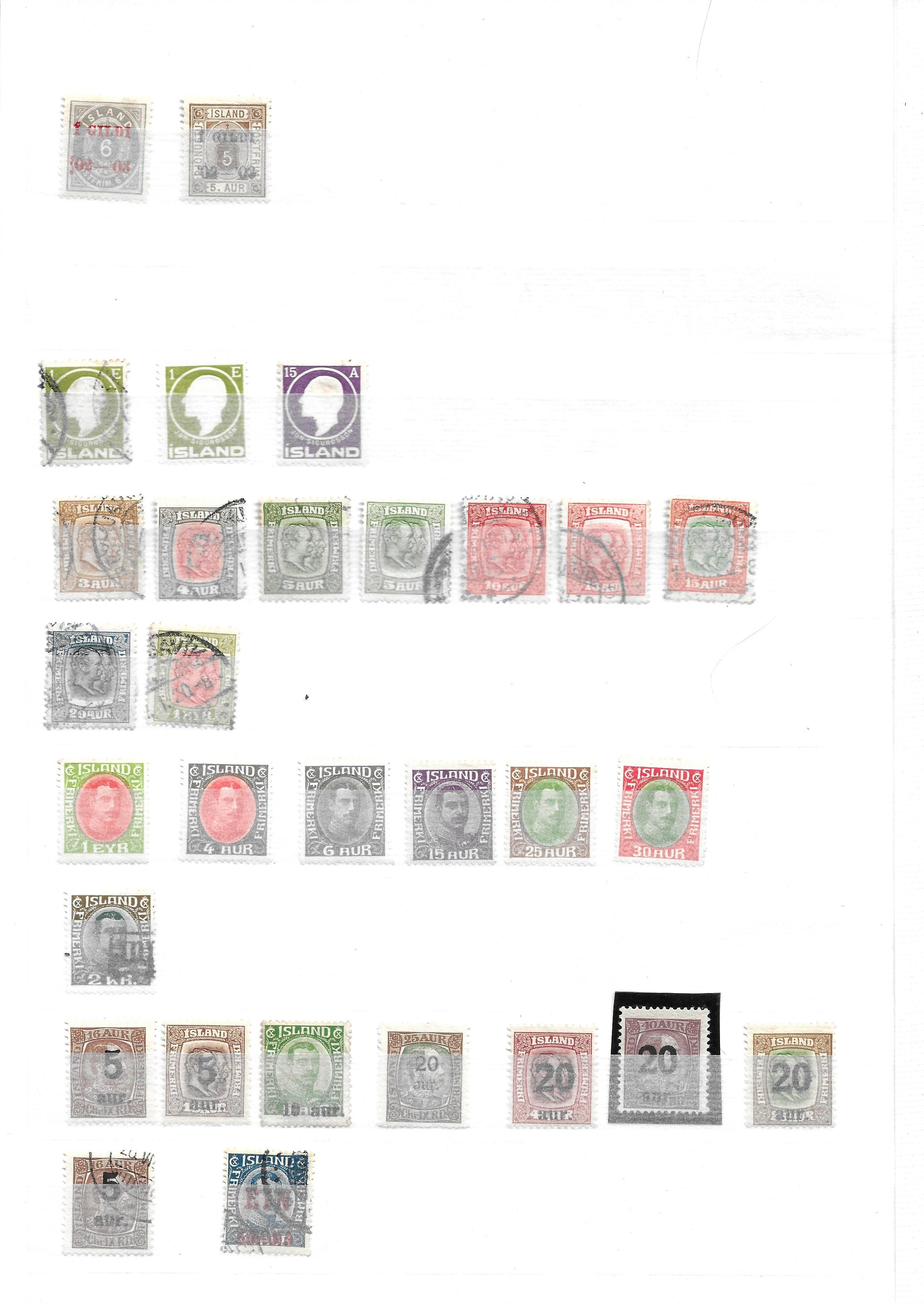 Iceland 1882-1940 unused and used collection on stockcards with sets and better values - Image 3 of 5