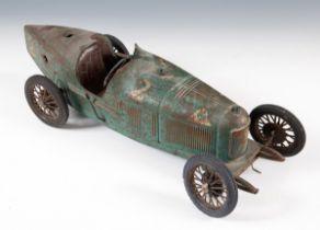 A Compagnie Industrielle Du Jouet (CIJ) Alfa Romeo P2 green, 52 cm Appears in original condition,
