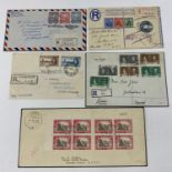 British Commonwealth Postal history selection of 12 attractive covers with Papua, Antiqua, Barbados,