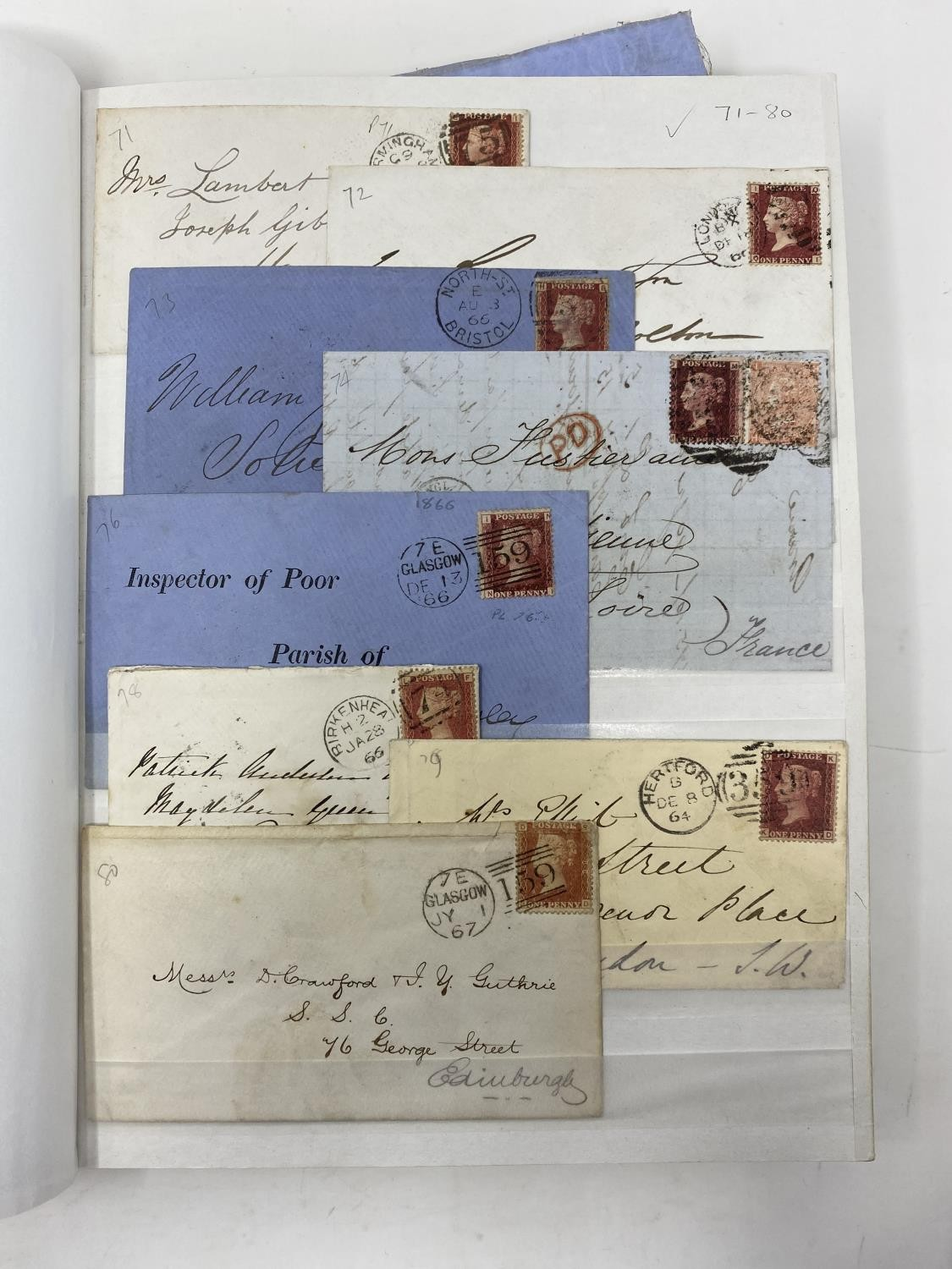Great Britain 1858-79 1d red Plate numbers issue, a fine complete collection of plates 71-224 (excl. - Image 2 of 3