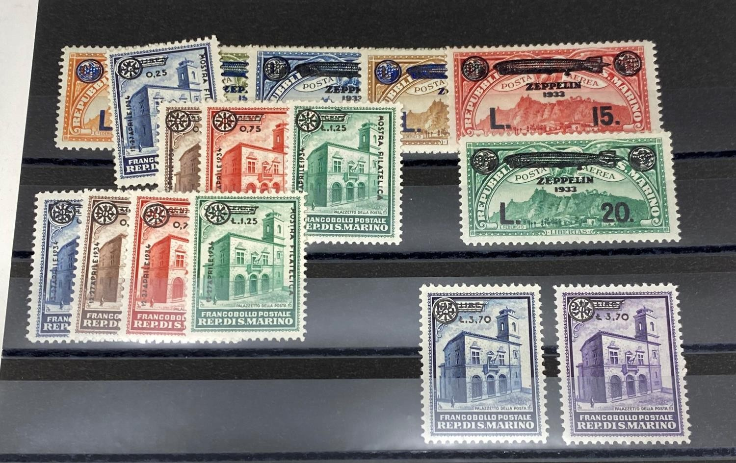 San Marino 1933-35 unused selection with 1933 Zeppelin set 1934 Milan Fair set and some better