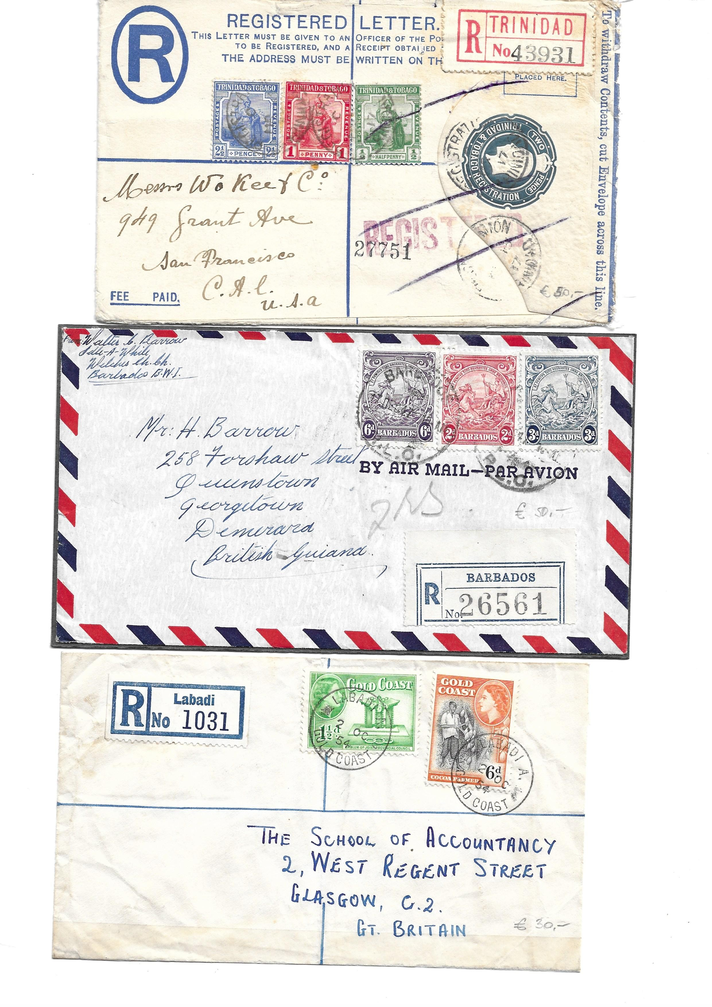 British Commonwealth Postal history selection of 12 attractive covers with Papua, Antiqua, Barbados, - Image 5 of 7