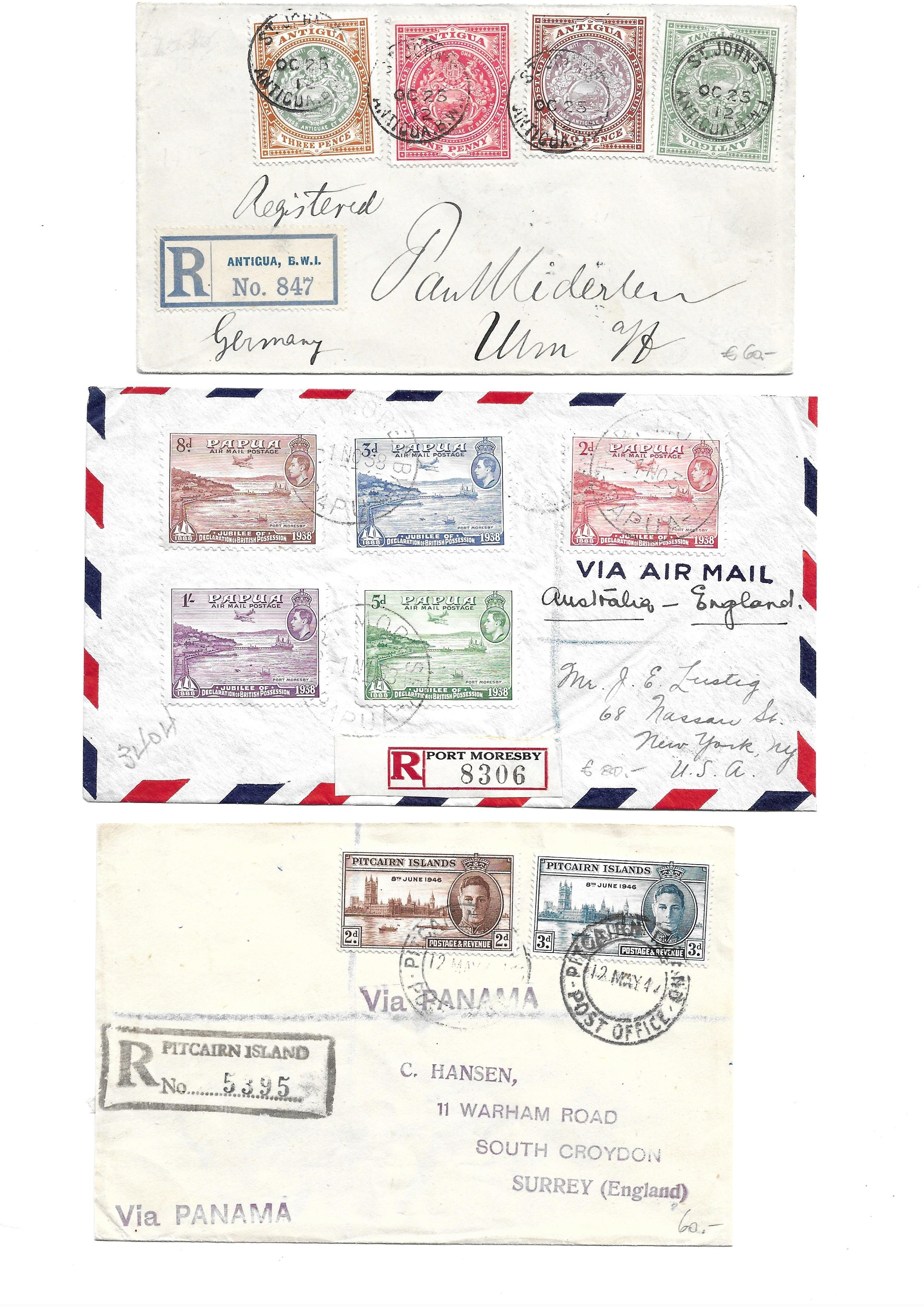 British Commonwealth Postal history selection of 12 attractive covers with Papua, Antiqua, Barbados, - Image 7 of 7