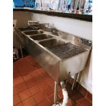 EAGLE FOODSERVICE EQUIPMENT TRIPLE BAY SINK (MODEL# 356-18)