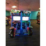 RAW THRILLS INC. MOTO GP 2 PLAYER MOTORCYCLE RACING ARCADE GAME