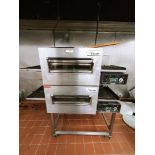 LINCOLN FOODSERVICE PRODUCTS INC. DUAL CONVEYOR PIZZA OVEN WITH DIGITAL CONTROL PANELS, MODEL 1162-0