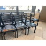 LOT OF 10 CAFETERIA CHAIRS