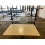 LOT OF 13 RECTANGULAR CAFETERIA TABLES