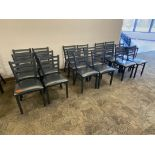 LOT OF 18 CAFETERIA CHAIRS