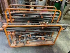 Rolling Cart with Bar Clamps