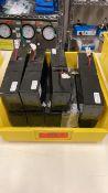 18608-001, REV.D LOT OF 9, 12V BATTERIES