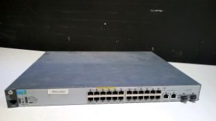 HP 2530-24 POE+ (J9779A) SWITCH LOCATED AT: 2440 GREENLEAF AVE, ELK GROVE VILLAGE IL