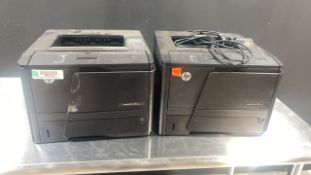 LOT OF 2 HP M401M PRINTERS LOCATED AT: 2440 GREENLEAF AVE, ELK GROVE VILLAGE IL