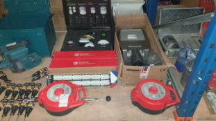 MIXED TRADE LOT CONTAINING 2 X PANOPLY LARGE METAL CABLE TETHER, 2 X CONNECTIX CABLING SYSTEMS,