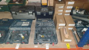 MIXED TOOL LOT CONTAINING BOSCH HAMMER DRILL (GBH 2400 PROFESSIONAL) ALSO INCLUDES KETTER TOOL BOX