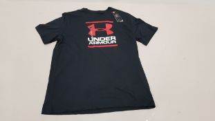 10 X BRAND NEW UNDER ARMOUR BLACK T-SHIRT UK SIZE XL