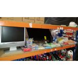 20+ PIECE MIXED CLEANING AND ELECTRONIC LOT CONTAINING BUSH TV, PROLINE TV, VARIOUS CLEANING