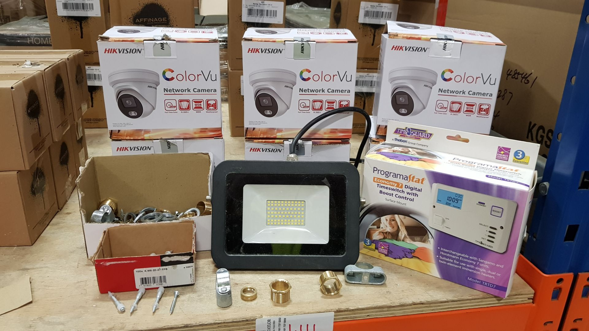 MIXED TRADE LOT CONTAINING 6 X COLORVU NETWORK CAMERAS WITH FULL TIME COLOR, H.625+ WDR AND