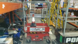 WM DYER SAFE WORKING PLATFORM (MINI SCISSOR LIFT) MAXIMIM SAFE WORKING LOAD 300KG