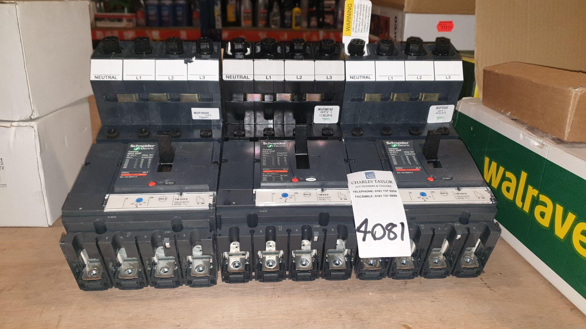 3 X SCHNEIDER ELECTRIC COMPACT NSX 100F