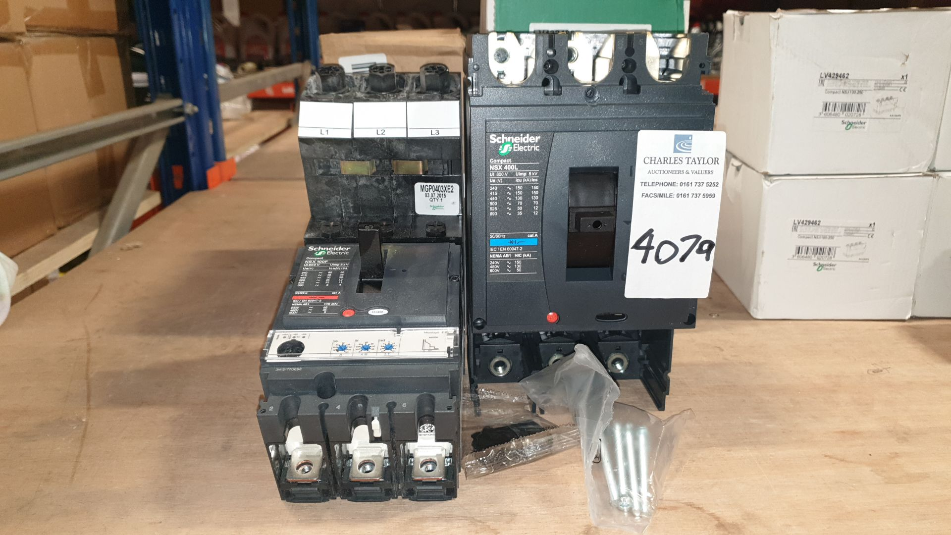 3 PIECE MIXED LOT INCLUDING 1 X SHEIDER ELECTRIC COMPACT NSX 100F AND 2 X SHNEIDER ELECTRIC NSX