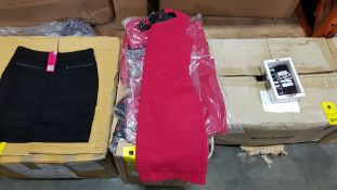 50 X BRAND NEW PRETTY POLLY RED TUNE DRESSES IN VARIOUS STYLES AND SIZES IE UK SIZE 8, 14 AND 10