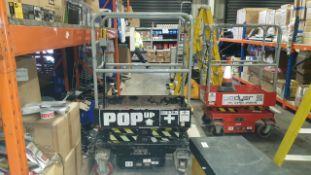 POP UP SAFE WORKING PLATFORM (MINI SCISSOR LIFT) MAXIMIM SAFE WORKING LOAD 300KG