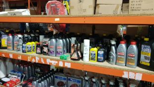 APPROX 90 PIECE ASSORTED CAR LOT CONTAINING CARLUBE 15W40 ENGINE OIL, DE-ICING SALT, CARLUBE POWER