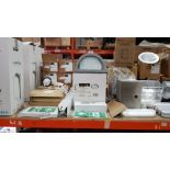 APPROX 20 PIECE MIXED LIGHT LOT CONTAINING, WHITECROFT LED DOWNLIGHTERS, FIRE EXIT SIGNS, IP44 LED