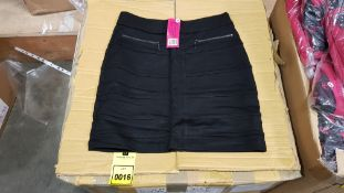 50 X BRAND NEW PRETTY POLLY BLACK BODYCON SKIRTS IN VARIOUS STYLES AND SIZES IE UK SIZE 8 AND 14