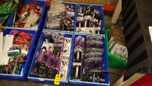 700+ PIECE MIXED CAR LOT CONTAINING LED INSPECTION LAMPS, POWER INVERTERS AND AUTO CARE SMALL RUBBER