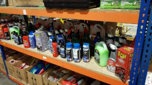 APPROX 80 PIECE ASSORTED CAR LOT CONTAINING T-CUT PAINTWORK PERFECTION, CALIPER SPRAY, CARPLAN