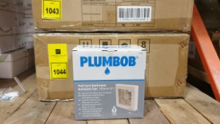 """12 X BRAND NEW PLUMBOB PULL CORD BATHROOM EXTRACTOR FANS 100MM (4"""") WITH LOW 45dBA NOISE LEVEL (PROD"""