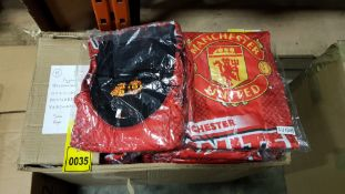 50 X BRAND NEW MANCHESTER UNITED OFFICIAL BRANDED MERCHENDISE PYJAMAS AGE 9/10