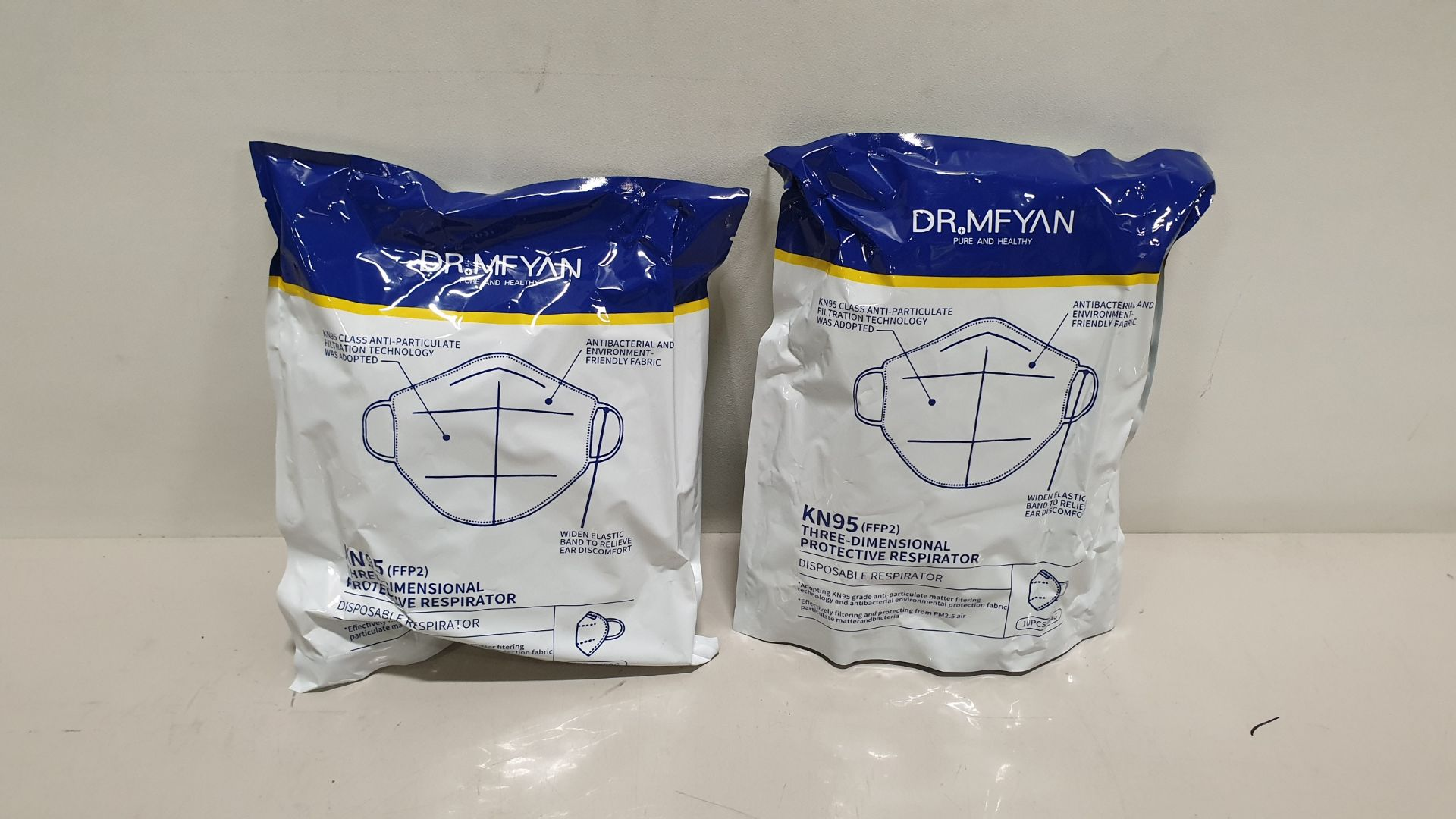 200 X BRAND NEW DR. MFYAN KN95 THREE DIMENSIONAL PROTECTIVE RESPIRATOR 3 YEAR SHELF LIFE (