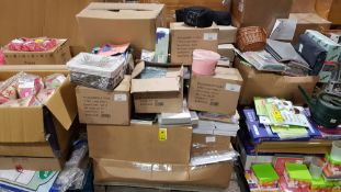 APPROX 1000+ PIECES OF EDUCATION EQUIPMENT ON A PALLET IE BOOKS, FOLDERS, POWDERED PAINT, FOLDER
