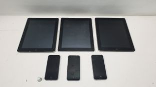 3 APPLE IPADS & 3 IPHONES FOR SPARES