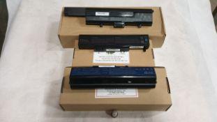 30 X ASSORTED LAPTOP BATTERIES - QBEK00166_35_UK, QBEK00182KK, QBEK00080KP AND QBEK00014KP