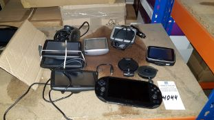 7 PIECE ASSORTED LOT CONTAINING 6 X TOMTOM SAT NAVS AND 1 X SONY PSVITA (PSP)