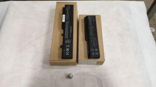 34 X ASSORTED LAPTOP BATTERIES - QBEK00121-KK, QBEK00118KP, QBEK00001_140_UK AND QBEK00200_158_FR