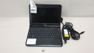 TOSHIBA NB 200 LAPTOP CHROME O/S 160GB HARD DRIVE INCLUDES CHARGER