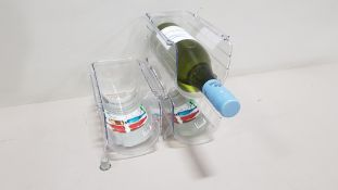 144 X BRAND NEW YOUR HOME STACKABLE WINE/ BOTTLE ORGANISERS CONTAINED IN 6 BOXES